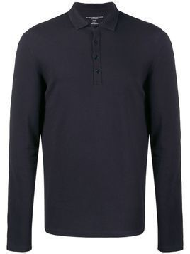 Majestic Filatures long-sleeve polo top - Blue