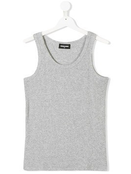 Dsquared2 Kids ribbed tank top - Grey