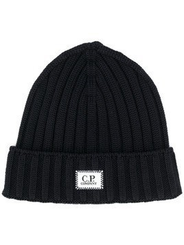 CP Company cable knit beanie - Blue