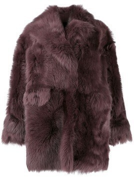 Blancha oversized shearling jacket - Purple