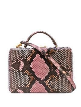 Mark Cross snakeskin effect Grace box tote - PINK