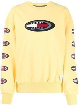 Tommy Jeans embroidered logo sweatshirt - Yellow