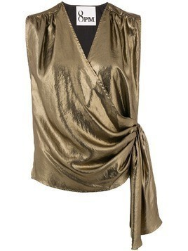 8pm side fastened blouse - Metallic