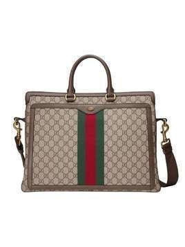 Gucci Ophidia GG briefcase - Brown