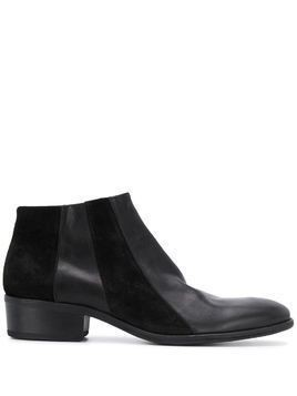 Fiorentini + Baker panelled low-rise ankle boots - Black