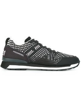 Hogan Rebel striped sneakers - Black