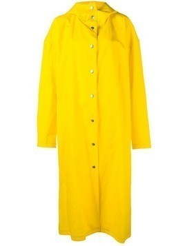A.W.A.K.E. long raincoat - Yellow & Orange