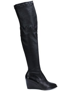 Robert Clergerie thigh-high wedge boots - Black