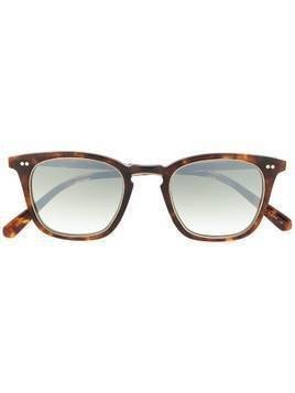 Garrett Leight square-frame mirrored sunglasses - Brown