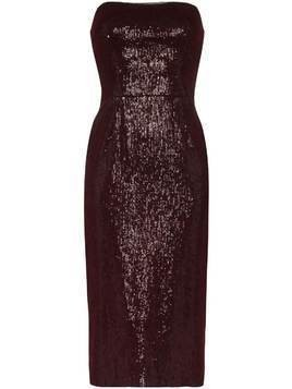 Haney Martina strapless sequin midi dress - Red