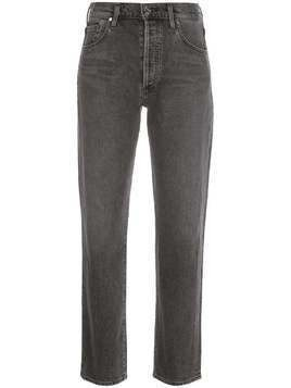 GOLDSIGN high-rise slim jeans - Grey