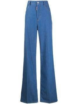 Dsquared2 high waist wide leg jeans - Blue