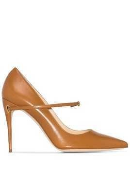 Jennifer Chamandi Lorenzo 105mm pumps - Brown