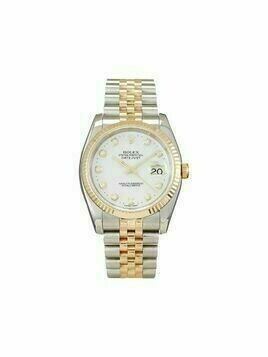 Rolex 2004 pre-owned Datejust 34mm - White