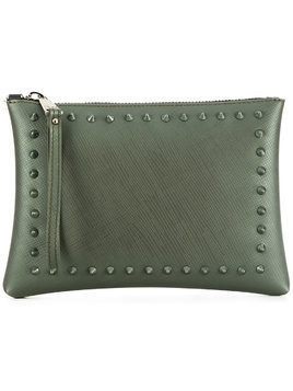 Gum studded clutch bag - Green