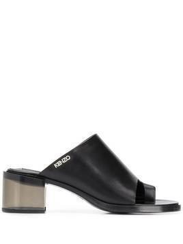 Kenzo toe-strap plexiglass-heel sandals - Black