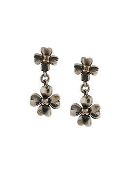 Ugo Cacciatori 9kt gold and diamond tiny clover earrings - Metallic