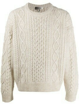 Isabel Marant cable-knit wool jumper - White