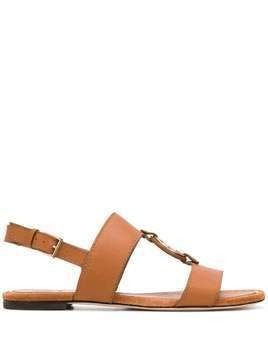 Tory Burch Miller logo sandals - Brown