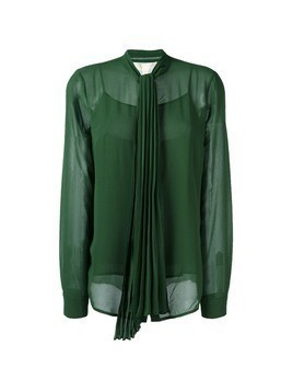 Michael Michael Kors pleated bow blouse - Green