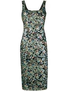 Alexa Chung sequin embroidered dress - Black