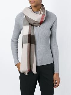 Burberry house check scarf - Grey