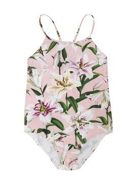 Dolce & Gabbana Kids floral one-piece swimsuit - PINK