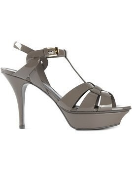 Saint Laurent Tribute 75 sandals - Grey