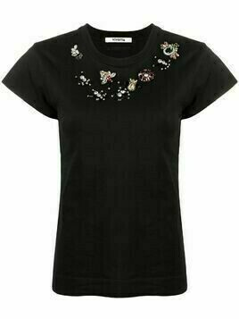 Vivetta crystal-embellished T-shirt - Black