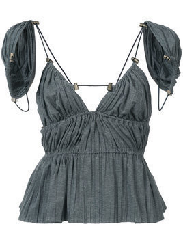 Y / Project open back blouse - Grey