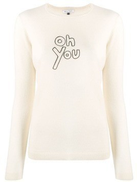 Bella Freud Oh You cashmere sweater - NEUTRALS
