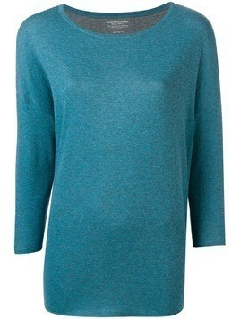 Majestic Filatures three-quarter sleeves knitted blouse - Blue