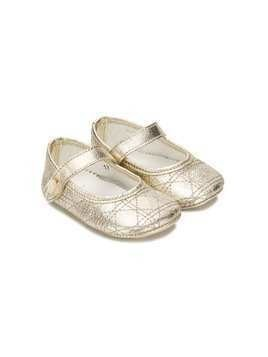 Baby Dior metallic ballerinas - GOLD