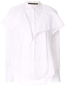 Haider Ackermann draped front shirt - White