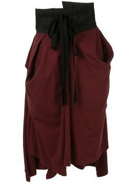 Aganovich high waisted jersey skirt - Red