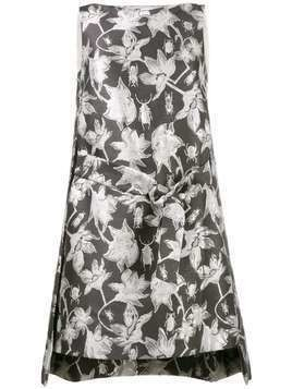 Osman metallic brocade shift dress - Grey