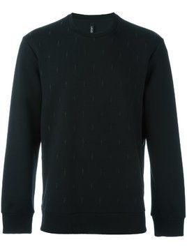 Neil Barrett embroidered lightning bolt sweatshirt - Black