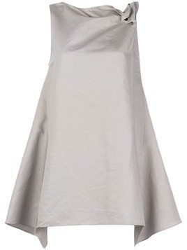 Y's draped trapeze top - Grey