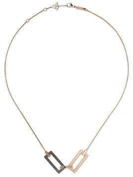 Chopard 18kt rose gold Ice Cube Rock necklace - Fairmined Rose Gold / Ceramic