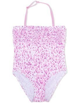 Elizabeth Hurley Beach Kids cheetah print one-piece swimsuit - Pink & Purple