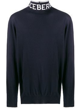Iceberg logo turtle neck jumper - Blue