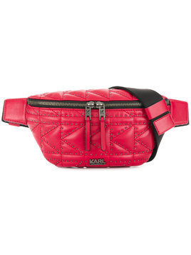 Karl Lagerfeld Studs quilted belt bag - Red
