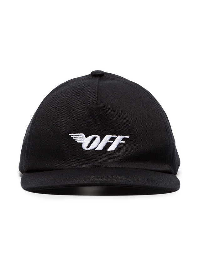 Off-White black logo cotton baseball cap