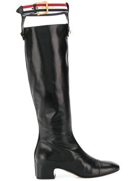 Thom Browne RWB Suspender Knee High Boot - Black