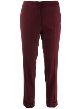 Etro cropped slim-fit trousers - Red