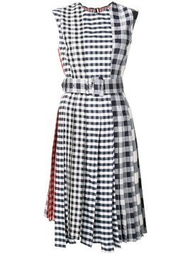 Thom Browne Fun-Mix Gingham Check Midi Dress - Blue