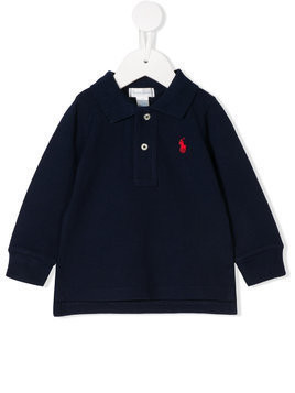 Ralph Lauren Kids logo embroidered polo shirt - Blue