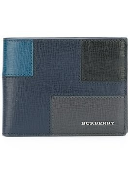 Burberry patchwork billfold wallet - Blue
