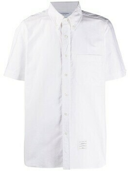 Thom Browne short-sleeved Oxford shirt - 100 WHITE