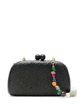 Serpui wicker clutch bag - Black